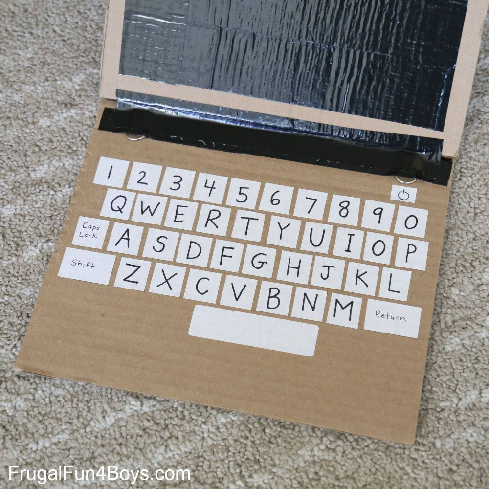 Literacy Learning with a Cardboard Laptop Educational