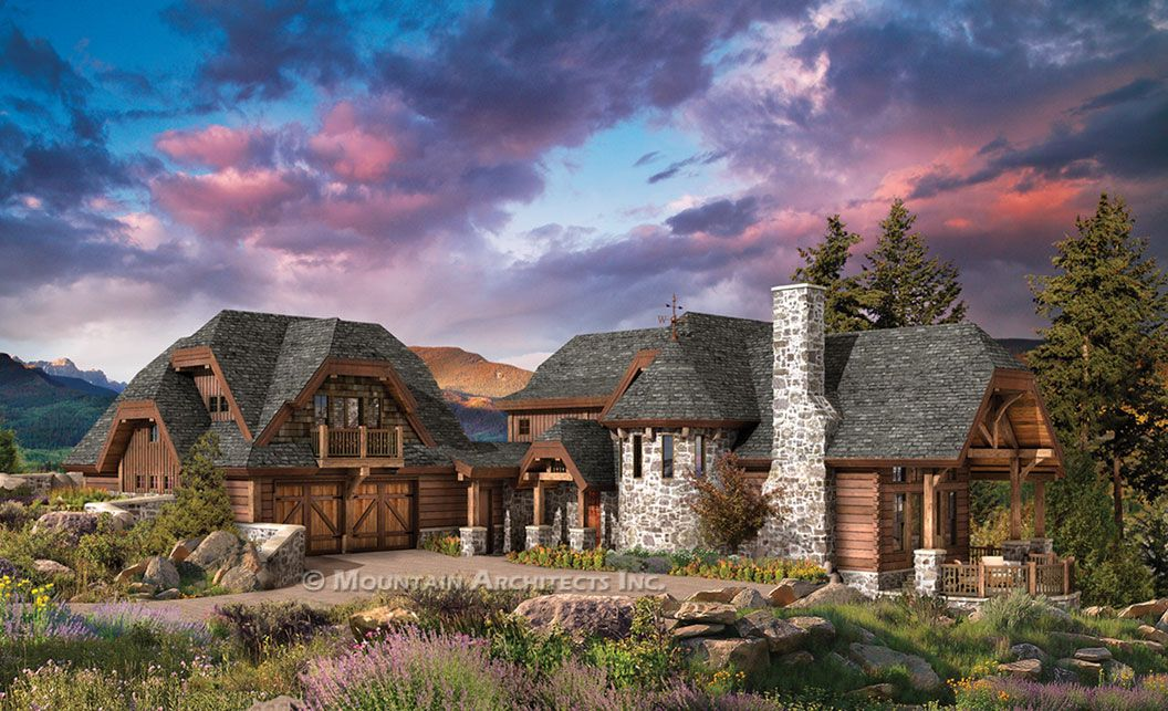 The Chaumont Log Home Floor Plan - Mountain Architects