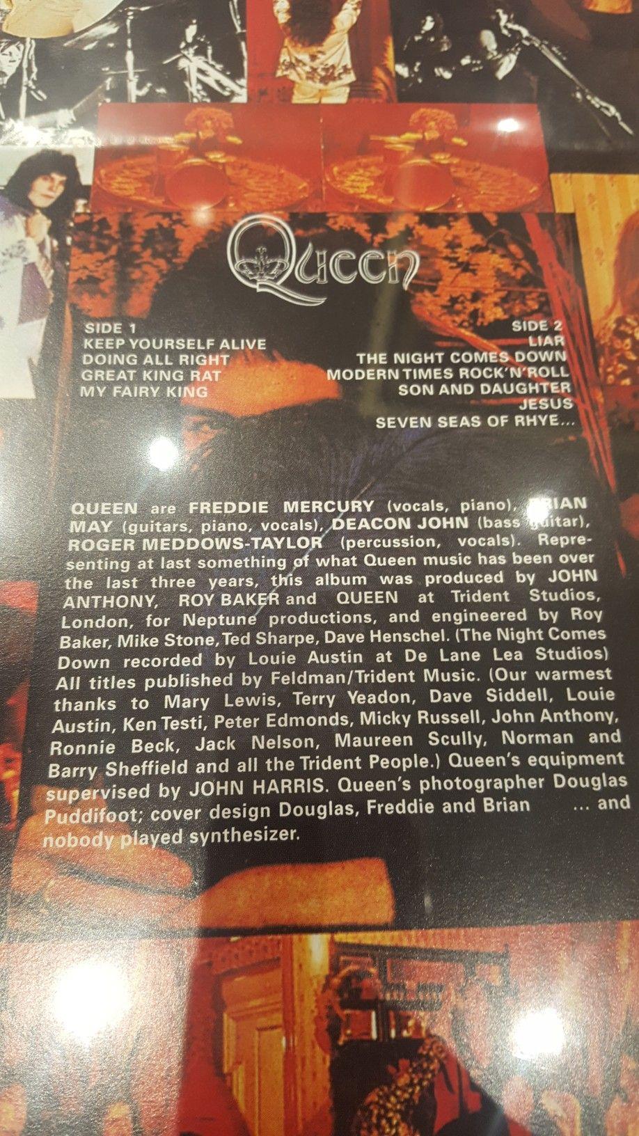 Queen album back cover | Killer queen in 2019 | Queen albums