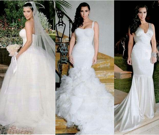 Kim Kardashian S 3 Wedding Dresses I Would Love The First One Let