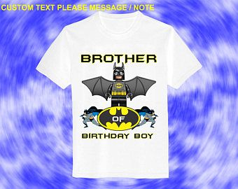 Batman Iron On Transfer Brother Birthday Shirt DIY Boy Designs Personalize