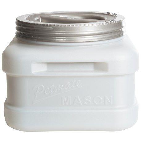 Petmate Mason Jar Food Storage - 20 lb., BPA-Free in See Photo