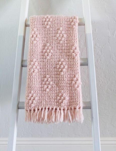 Diamond Berry Stitch Blanket Crochet Pattern Crochet Pinterest