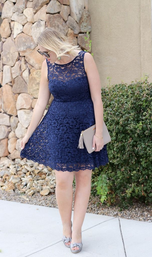 Navy Lace Dress David S Bridal Middle Of Somewhere Blog Navy Lace Dress Lace Dress Dresses