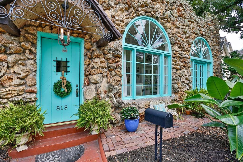 40s Stone House With Surprisingly Delightful Interiors Asks 549k Stone House House Florida Homes For Sale