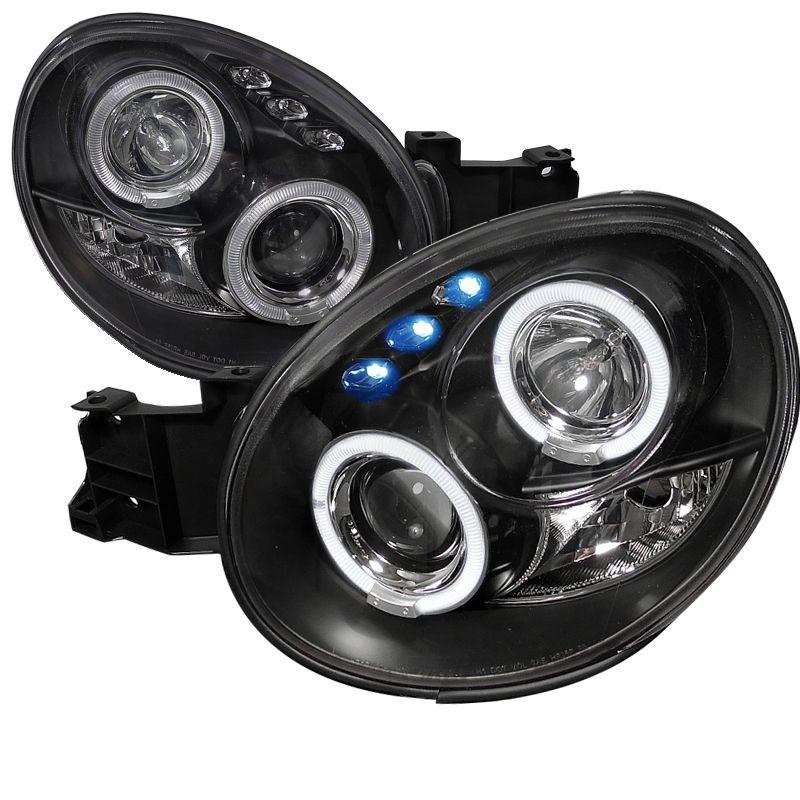 02 03 subaru impreza wrx sti dual halo led projector headlights 02 03 subaru impreza wrx sti dual halo led projector headlights black sciox Images