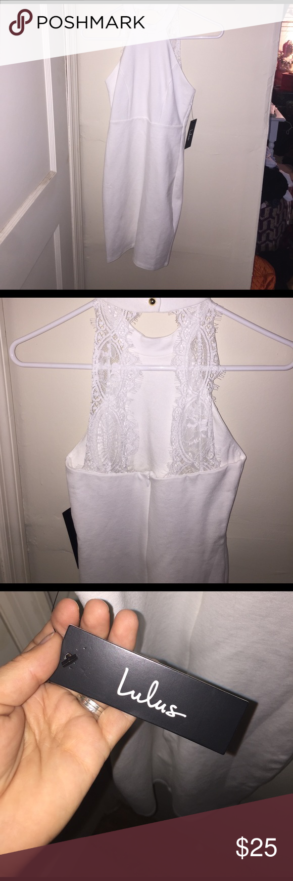 XS LuLus White Dress XS LuLus dress- Never worn, bodycon white dress. Lulu's Dresses Mini