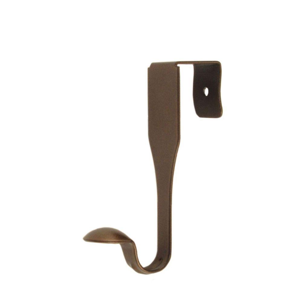 Single antique bronze over the door hook