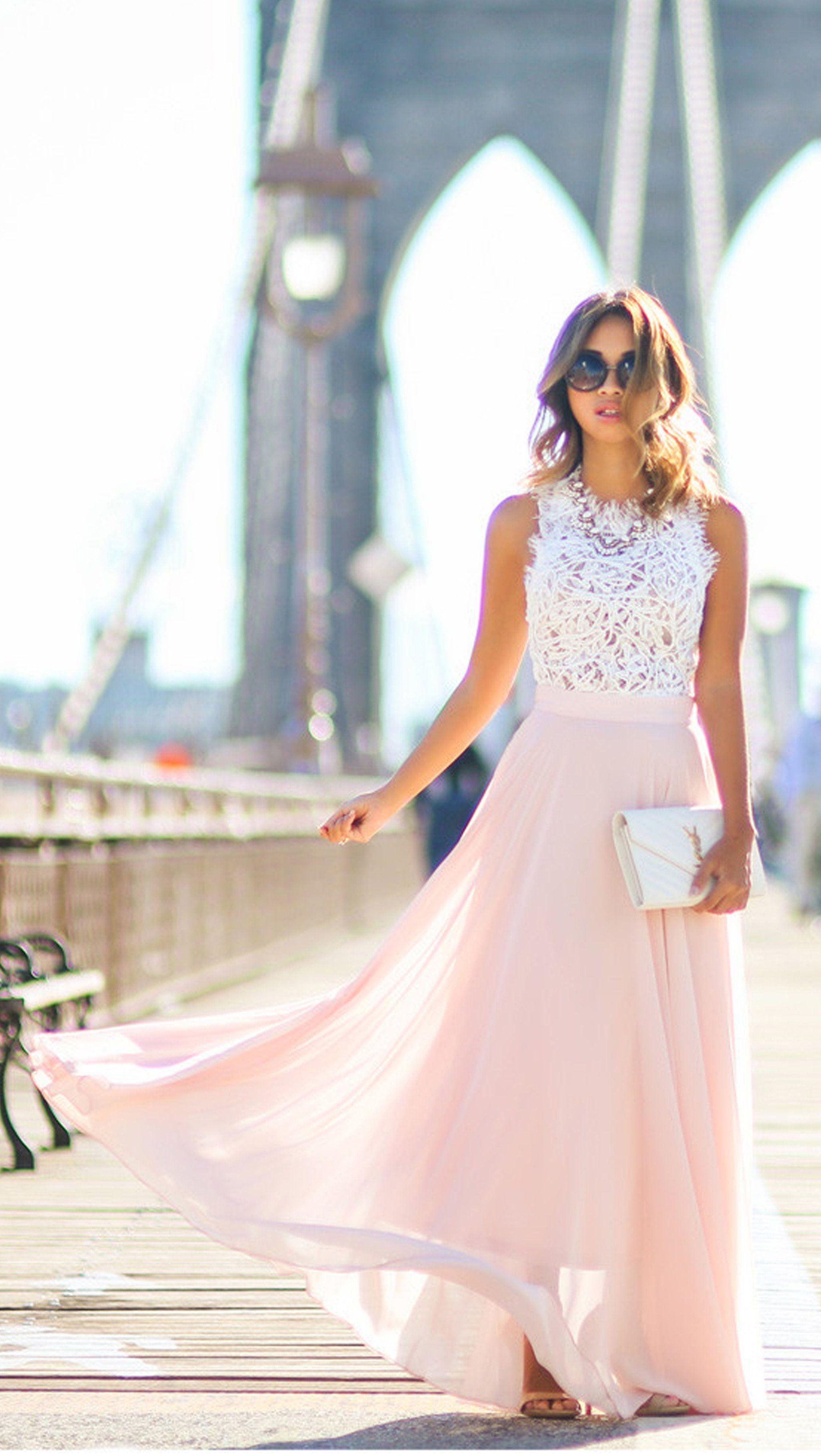07bbda37ba Long Prom Dresses Lace Maxi Chiffon Dress Elegant Spring Graduation Outfit  Ideas for Teens in Pink, Blue, Purple - hermosos vestidos de fiesta para ...