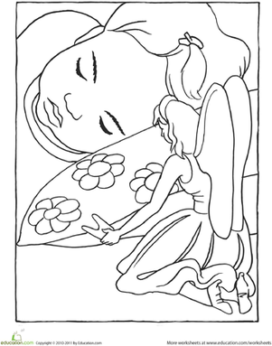 Tooth Fairy Coloring Page Tooth fairy Worksheets and Teeth