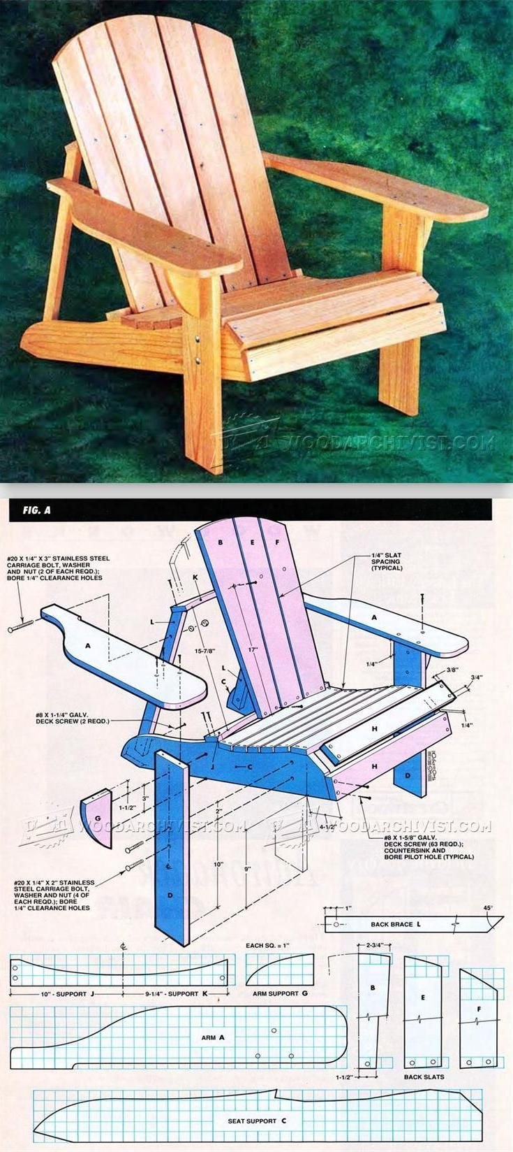 Classic Adirondack Chair Plans - Outdoor Furniture Plans and Projects   WoodArchivist.com