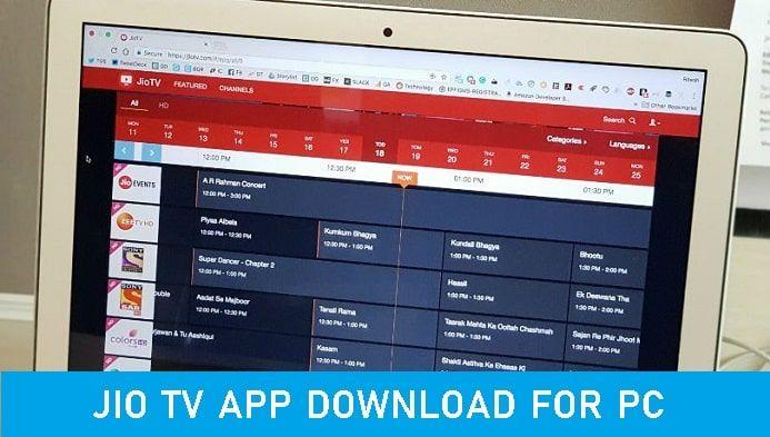 Jio Live TV App for PC Windows 10/7 Laptop (Official Link