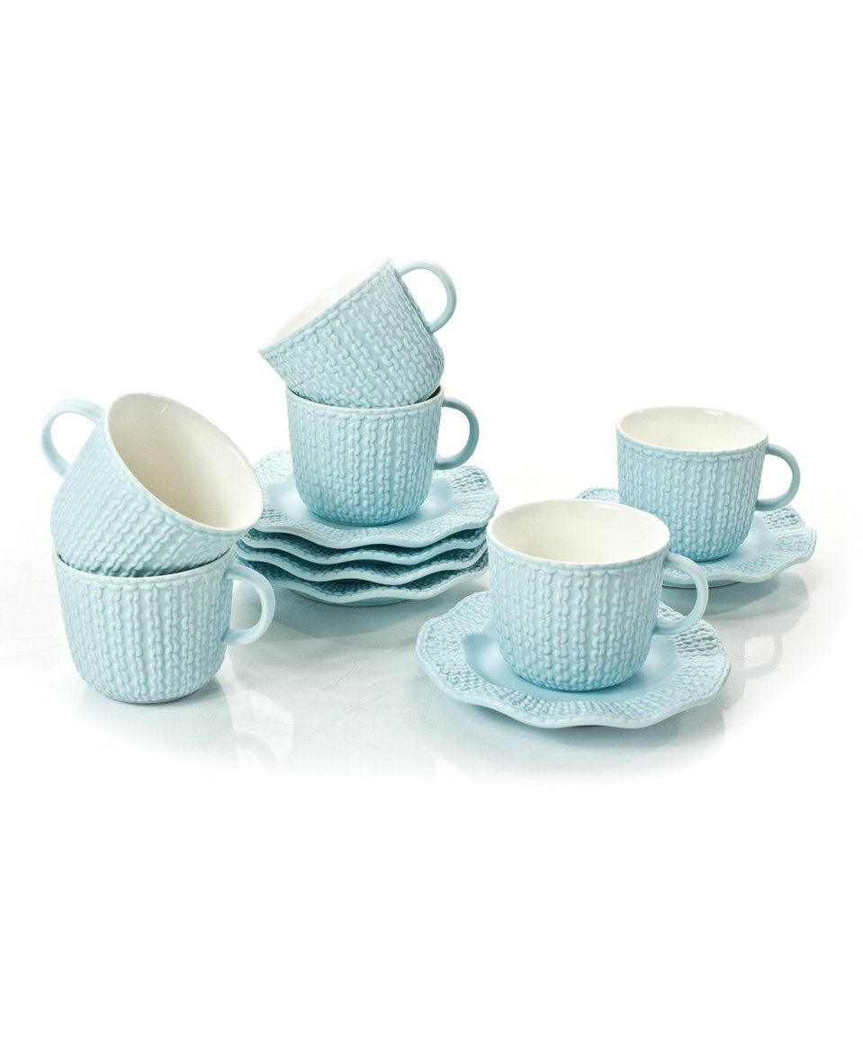 8e1754449 Love this Yedi Houseware Espresso 12-Piece Cup   Saucer Set by Yedi ...