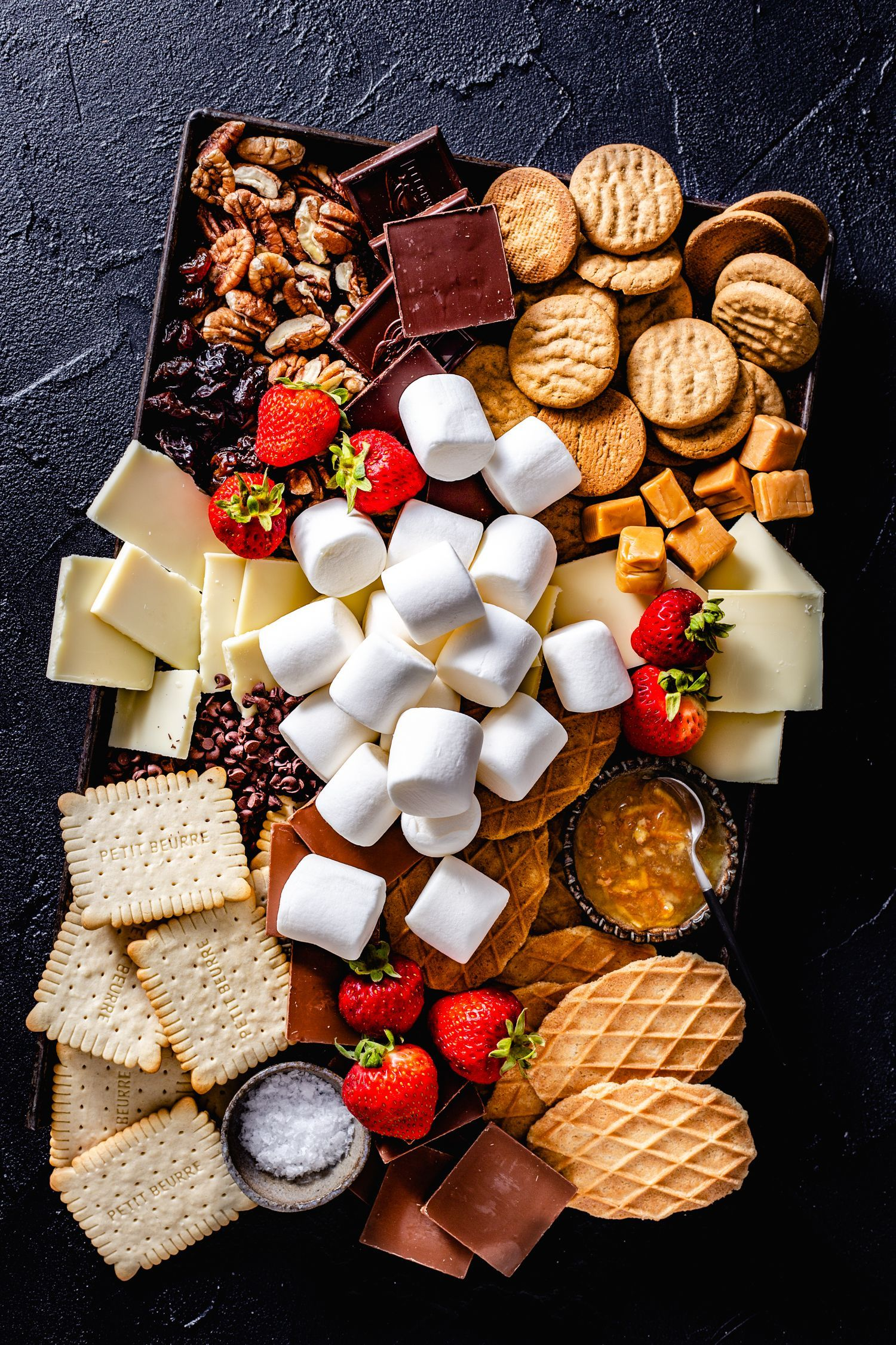 S'mores Party Platter & Awaiting Fall - Jelly Toast #marshmallows