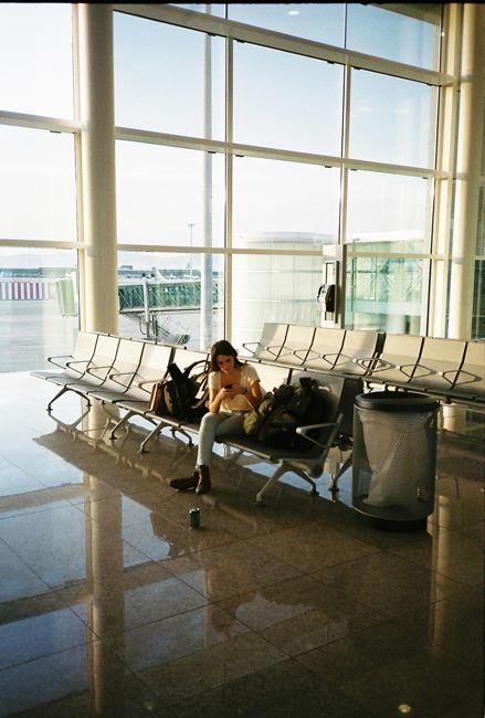 Airport waitin'.! vuelo atrasado