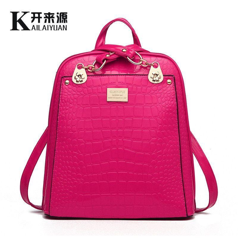 2016 New Women Leather Backpacks Bolsas Mochila Feminina