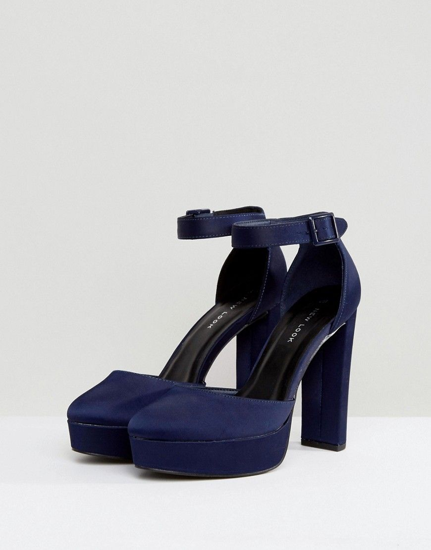 New Look Satin Platform Heeled Shoes