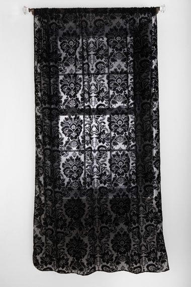 Gorgeous Black Lace Curtain Gothic Home Decor Gothic House