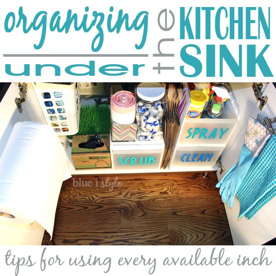 11 Tips for turning that black hole under your sink into a functional and organized space {Under Sink Organization}