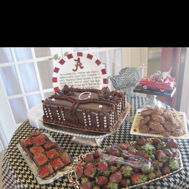 Grooms Table Alabama Crimson Tide Grooms Cake Tables Grooms