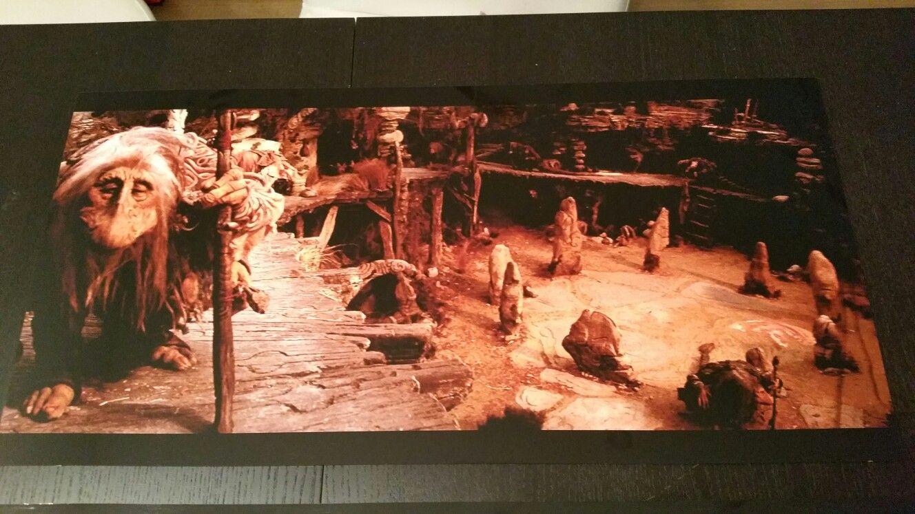 Dark Crystal scène on aluminium sheet.