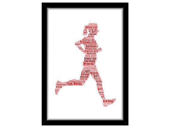 Personalised Running Triathlon For Her Female Woman Runner