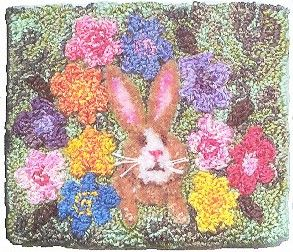 Welcome Spring - Punch Needle Pattern Pep'R Pot Designs (Charlotte Dudney) $12.00