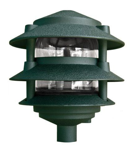 Dabmar Lighting D5000g Pagoda Fixture 3 Tier Incand 120v Light Green Finish Visit The Image Link More Details Pathway Lighting Path Lights Step Lighting