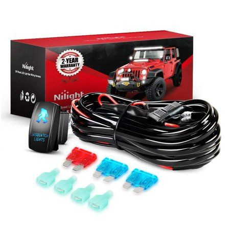 Nilight 16awg Wiring Harness Kit 12V with 5Pin Laser On off ... on 12 pin voltage regulator, toyota stereo wiring harness, 12 pin power supply,