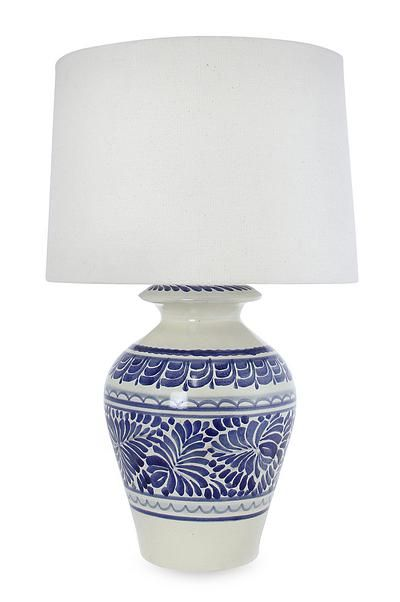 Etonnant Majolica Ceramic Table Lamp, U0027Song Of Talaverau0027