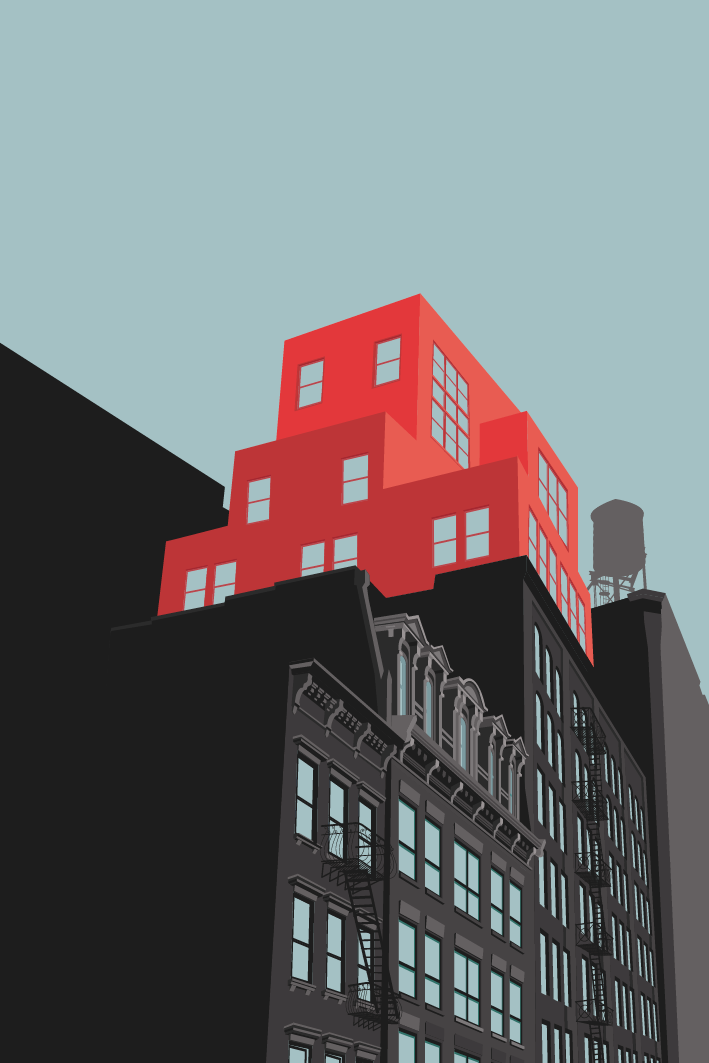 Colorful Illustrations Of Popular Locations In New York