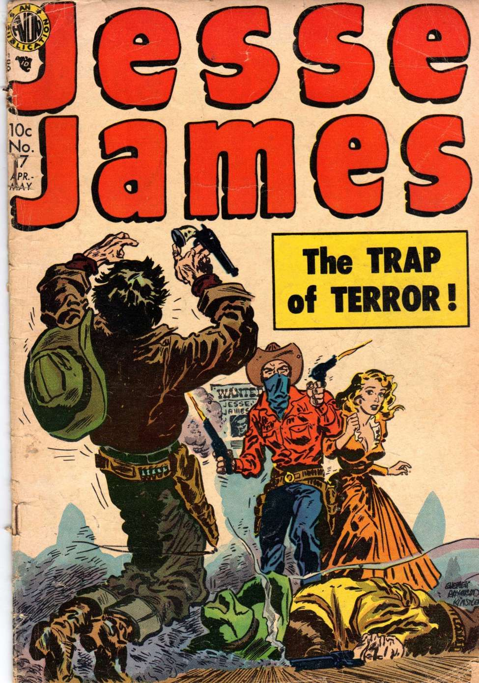 Comic Book Cover For Jesse James #17