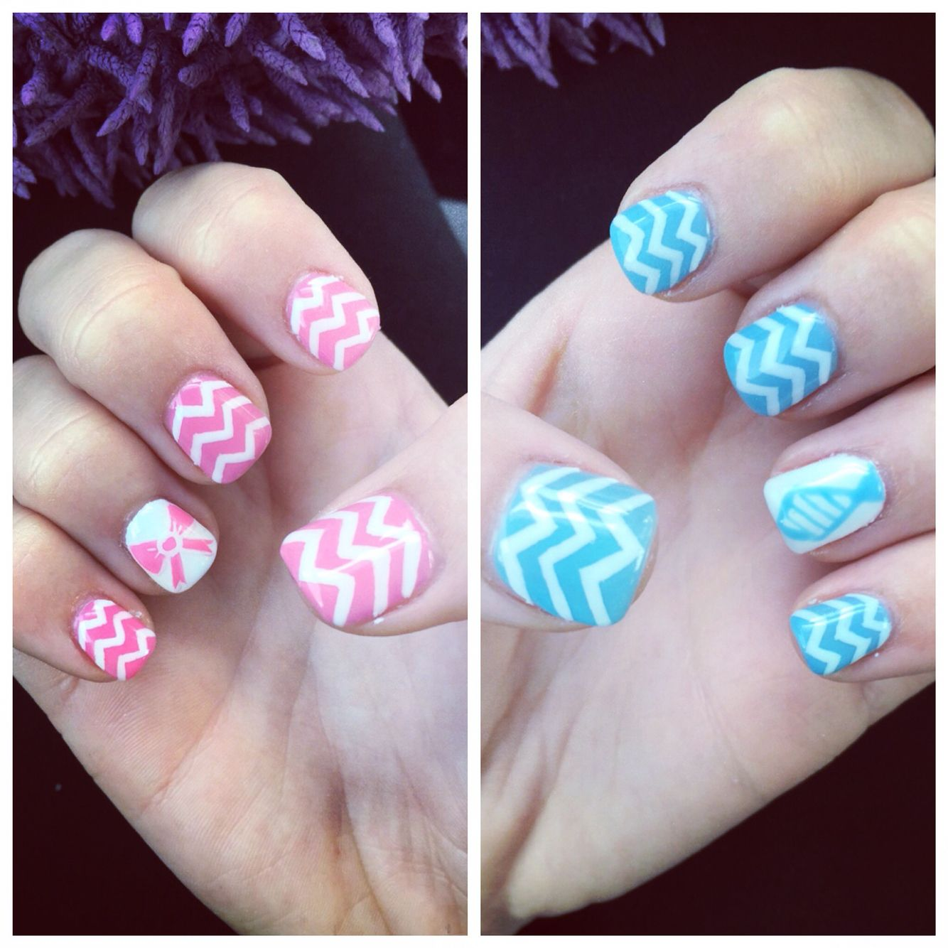 Gender Reveal Nails | Nails | Pinterest | Gender reveal nails ...