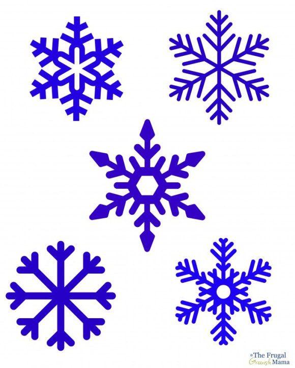 Create Diy Snowflake Window Clings Snowflake Template Printable