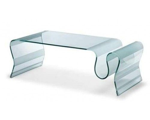 Zm Bent Glass Coffee Table L Parnian Furniture Contemporary