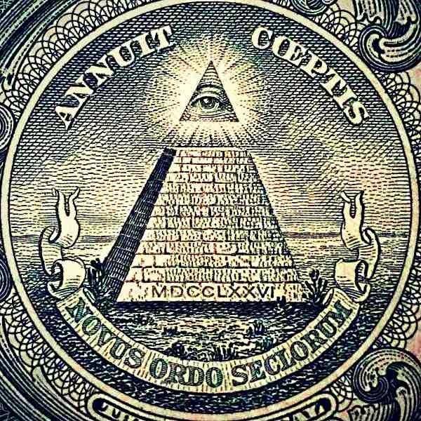 El Ojo Que Todo Lo Ve Y Su Pirámide Inferior Símbolo Esotérico De