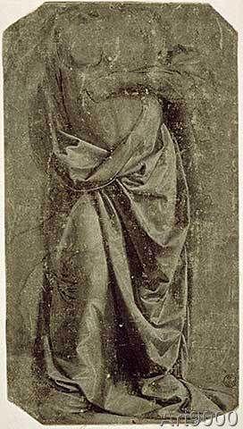 Leonardo da Vinci - Draped Figure