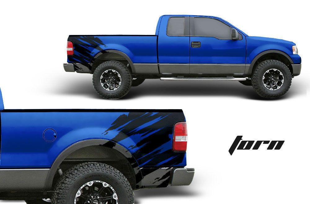 Ford F Truck Fender Bed Graphic X Offroad Vinyl Decal Black - Truck bed decals customford fvinyl graphics for bed fender