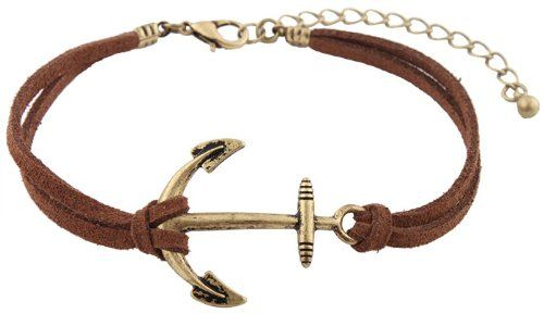 Brown with Brushed Gold Ship Anchor C... (bestseller)