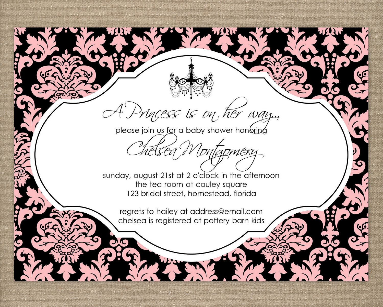 cute baby girl shower invites. An ultra sound picture can be ...
