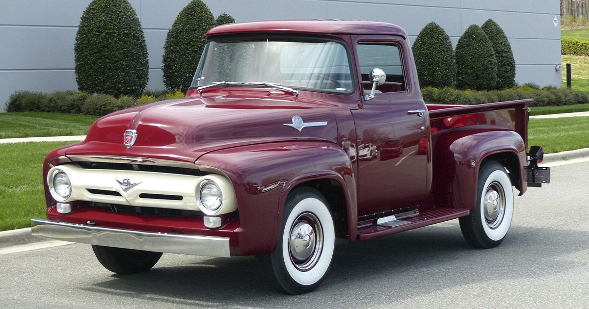 1956 Ford F 100 Pickup Classic Trucks Ford Trucks Ford Pickup