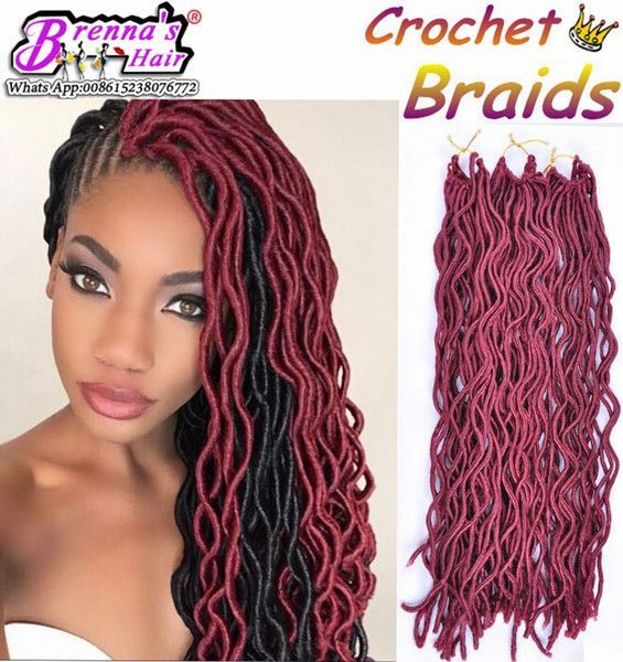 24root Curly Faux Locs Crochet Braiding Hair 12 20soft Wavy