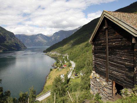 Aurlandsfjorden Near Flam, Sogn Og Fjordane, Norway, Scandinavia, Europe Photographic Print
