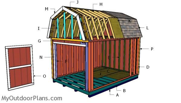 10 14 Gambrel Shed Free Diy Plans Shed Plans Shed House Plans Pallet Shed Plans