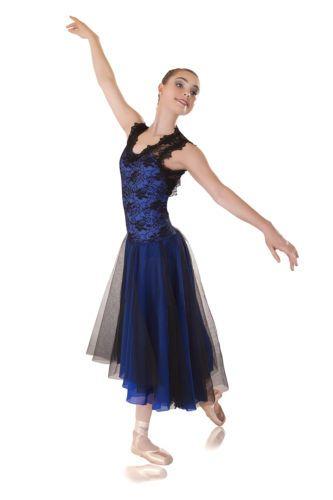 a712ef553 Neo Regal Lyrical Dress Royal Blue Black Dance Costumes Lots Groups | eBay