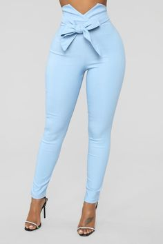 Photo of Knot Your Girl Pants – Blu