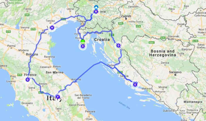 Planning a Road Trip Around the Adriatic Slovenia