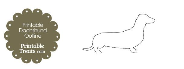 Printable Dachshund Outline Template Dachshund Templates Outline