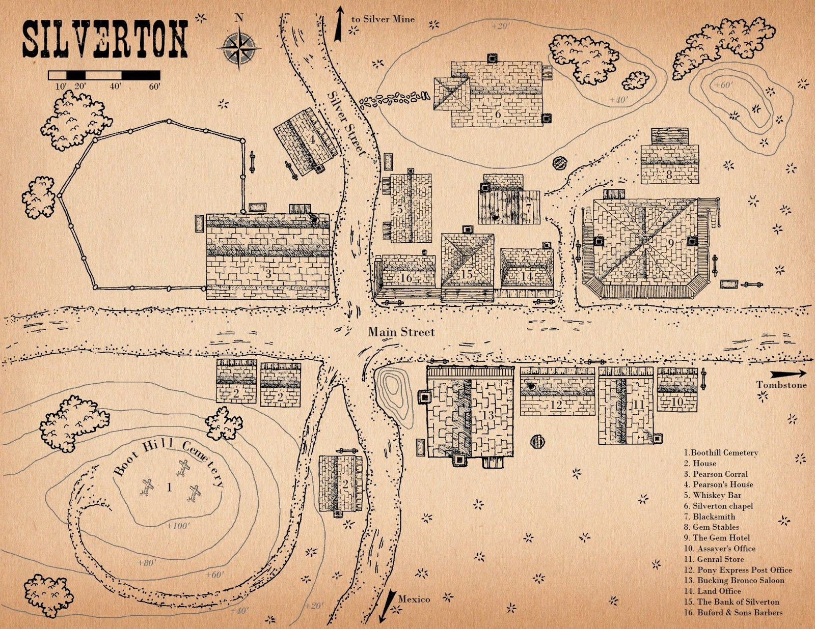 Silverton Colorado Town Layout Old West In 2019 Pinterest West