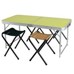 Camping Furniture Camping Camping Table With 4 Seats 4 6 People Green Quechua Camping Equipment Acampamentos
